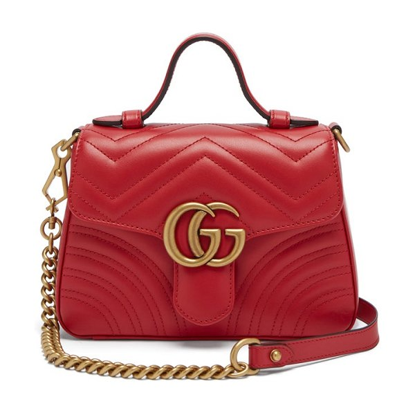 Gucci gg marmont quilted leather cross body bag in red - Gucci - Scaled down to an essentials-only size, the...