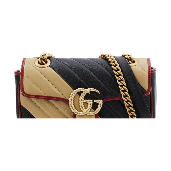 Gucci GG Marmont shoulder bag in stripe