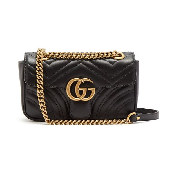 Gucci gg marmont small quilted leather cross body bag in black - Gucci - The GG Marmont mini bag is a stylish staple in...