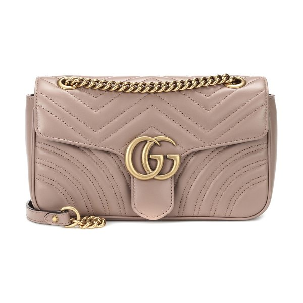 Gucci gg marmont small shoulder bag in beige