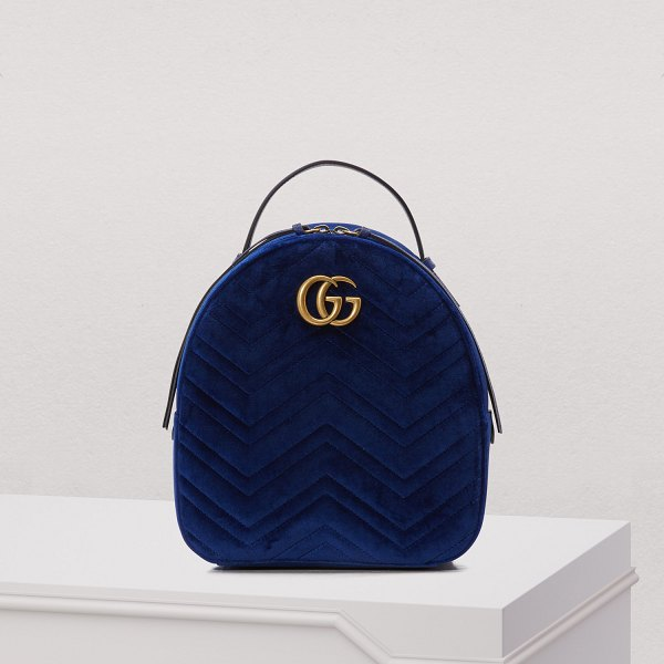 11084a908aa0 Gucci Gg Marmont Velvet Backpack