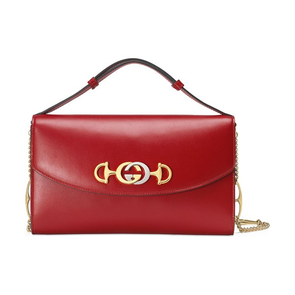 Gucci Gucci Zumi Smooth Leather Shoulder Bag in red