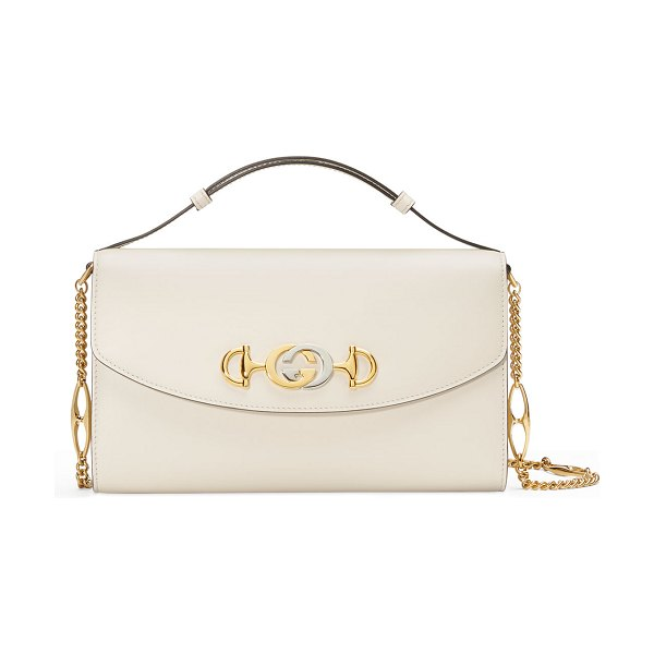 Gucci Gucci Zumi Smooth Leather Shoulder Bag in white - Gucci smooth leather shoulder bag. Adjustable flat top...