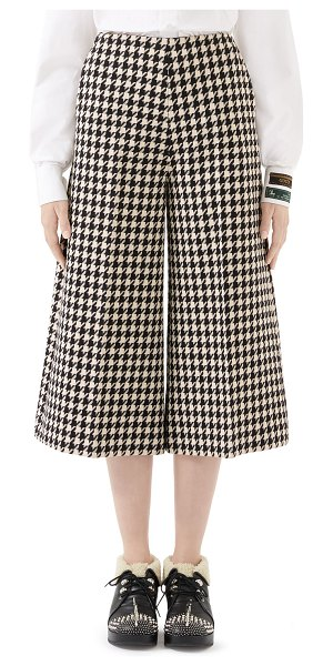 Gucci Houndstooth Culotte Pants in black/white