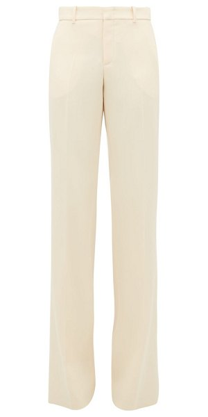 Gucci kick-flared wool trousers in ivory