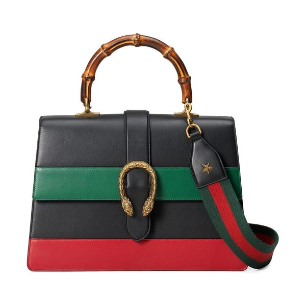 Gucci large dionysus top handle leather shoulder bag in women~~bags~~handbag