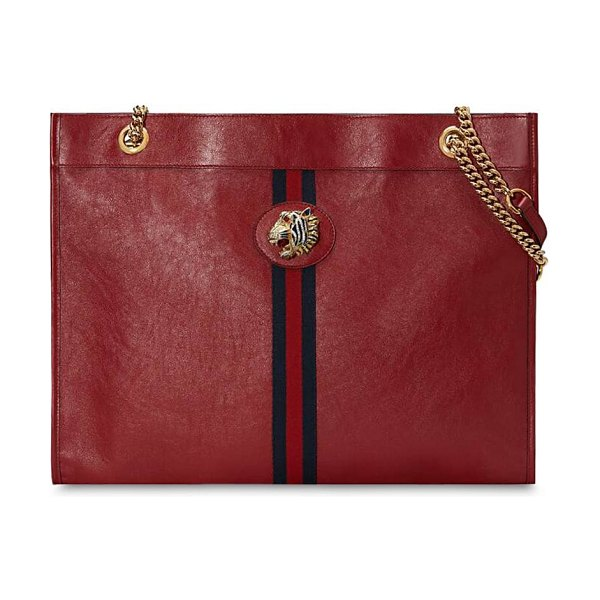 Gucci Large raja leather tote bag in romantic cerise