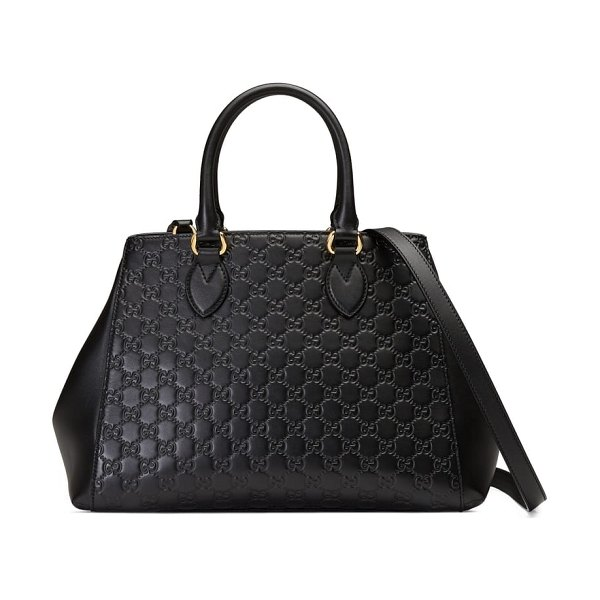 Gucci large top handle signature soft leather tote in women~~bags~~tote