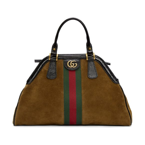 Gucci Medium Suede Ophidia Bag in brown - Suede top handle bag in chestnut  brown. 6a23a04d16