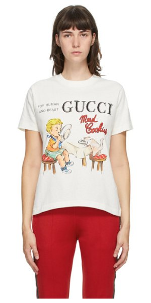 Gucci off-white mad cookies t-shirt in 9095 sunlig