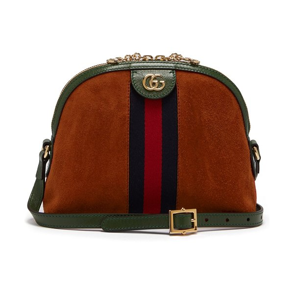 Gucci Ophidia GG suede cross-body bag in orange multi - This burnt-orange suede Ophidia bag offers a stylish...