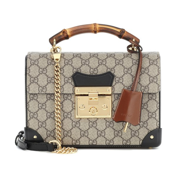 Gucci padlock gg small shoulder bag in beige