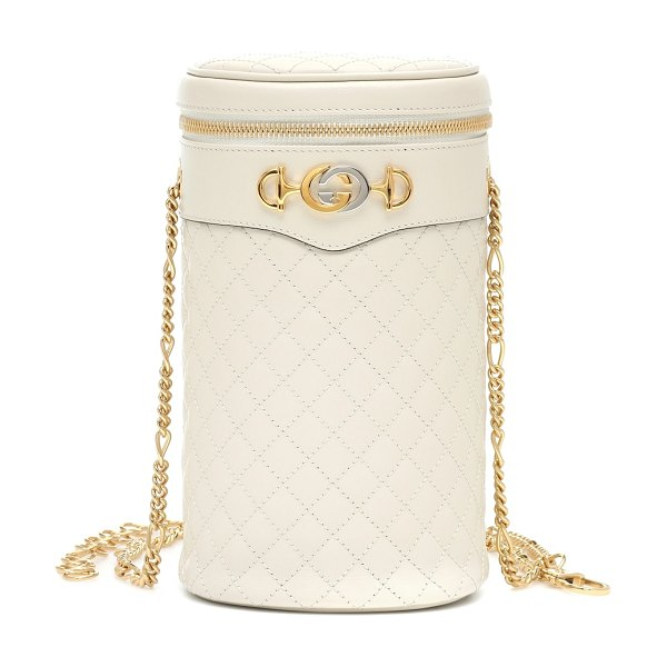Gucci quilted leather belt bag in white - Take on the belt bag trend, glamorous Gucci-style, with...