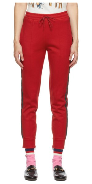 Gucci red gg cherries lounge pants in 6193 red,mc