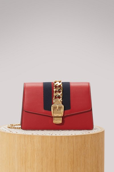 Gucci Sylvie leather mini chain bag - A classic from the Gucci luxury fashion house, a...