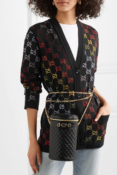 Gucci quilted leather belt bag in black