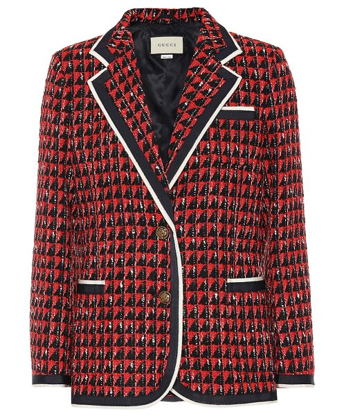 Gucci Tweed blazer in red - Gucci's blazer has been crafted in Italy from tactile...