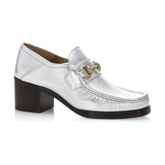 Gucci vegas metallic leather loafer loafers in silver - From the Saks It  List  The 3031df6a5a65