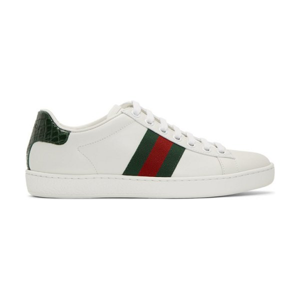 Gucci white ace sneakers in 9071 white