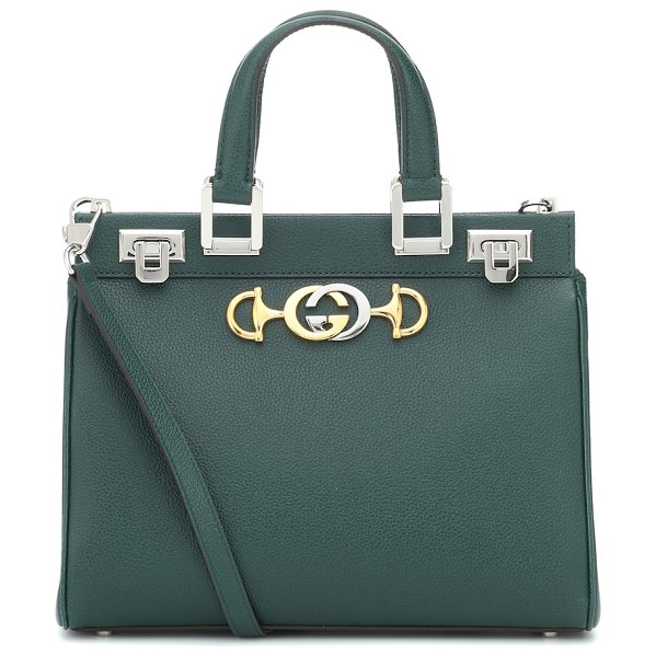 Gucci Zumi Small leather tote in green - Gucci's Zumi tote was named after actress and musician...