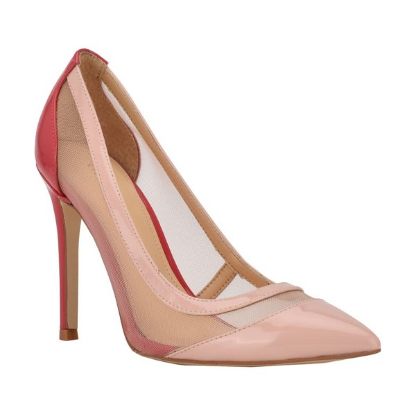 GUESS ciera pointy toe pump in shell/ hot coral