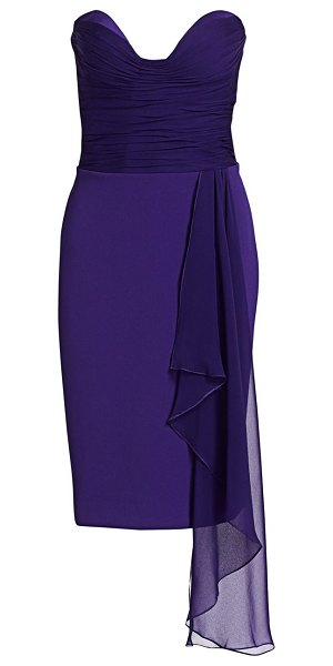 Gustavo Cadile strapless ruched bustier dress in purple