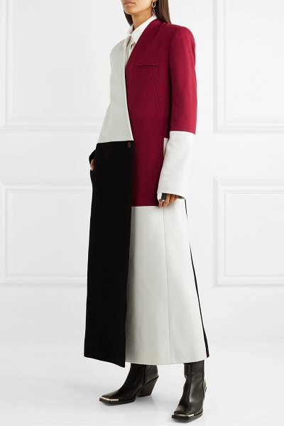 Haider Ackermann color-block wool and cashmere-blend coat in white