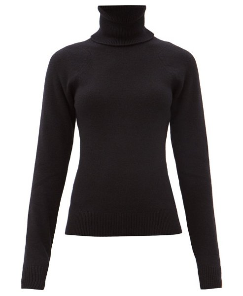 Haider Ackermann duvel roll-neck ribbed-wool sweater in black