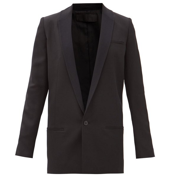 Haider Ackermann miles single-breasted wool smoking jacket in black