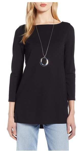 Halogen halogen bateau neck tunic in black - Offered in a wide selections of solid colors and prints,...