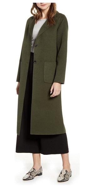 Halogen halogen double face long coat in olive