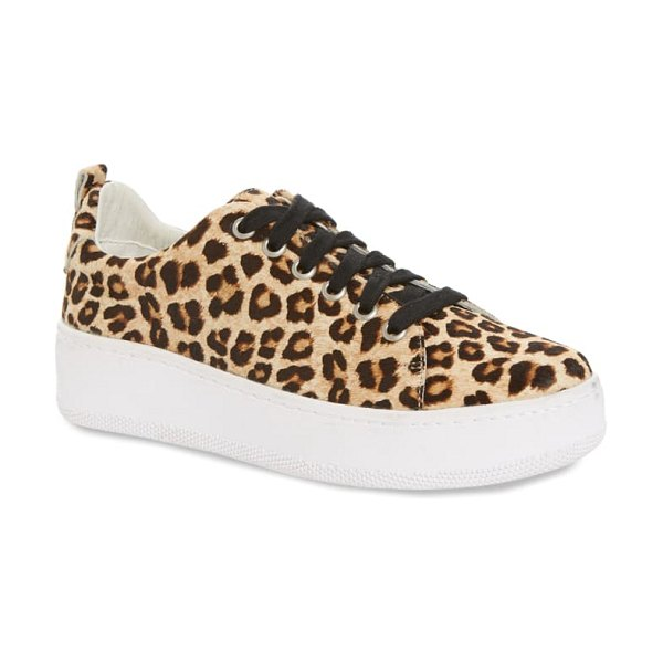 Halogen halogen ivie sneaker in leopard haircalf