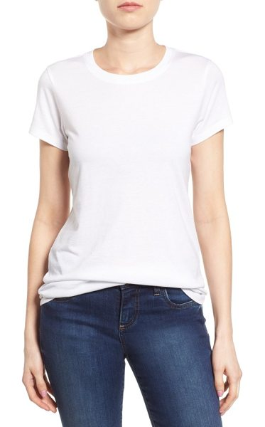 Halogen halogen short sleeve crewneck tee in white - A collect-every-color staple for spring, this crewneck...