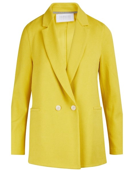 Harris Wharf Boxy cotton blazer jacket in pinapple