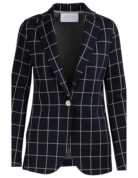 Harris Wharf Checkered boyfriend jacket in dark blue