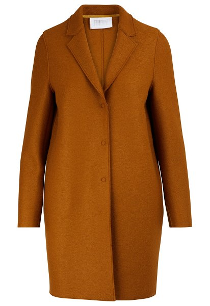Harris Wharf Cocoon coat in felted wool in ginger bread