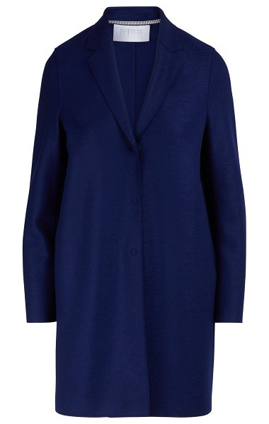 Harris Wharf Cocoon wool coat in ink