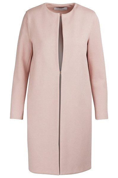 Harris Wharf Collarless cotton coat in rose