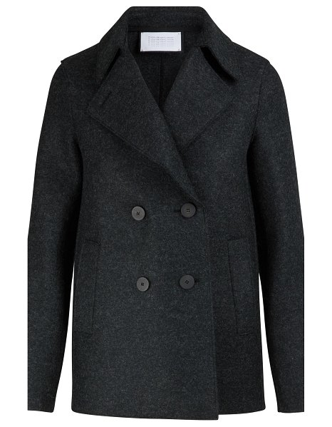 Harris Wharf Felted wool coat in anthracite