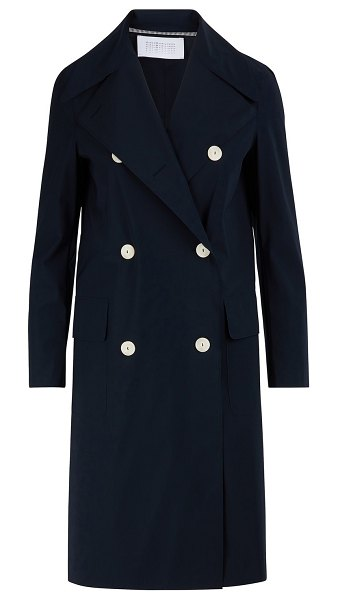 Harris Wharf London Military coat in dark blue - Harris Wharf's British craftsmanship is at the heart of...