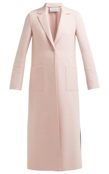 Harris Wharf London Pressed Wool Overcoat in light pink - Harris Wharf London - Minimalist style codes are central...
