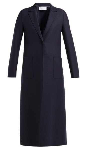 Harris Wharf London Pressed Wool Overcoat in navy - Harris Wharf London - Designed in London and produced in...