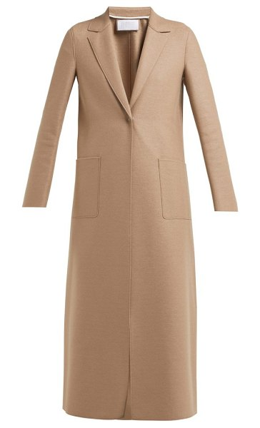 Harris Wharf London Single Breasted Pressed Wool Coat in camel - Harris Wharf London - Harris Wharf London's mocha-brown...