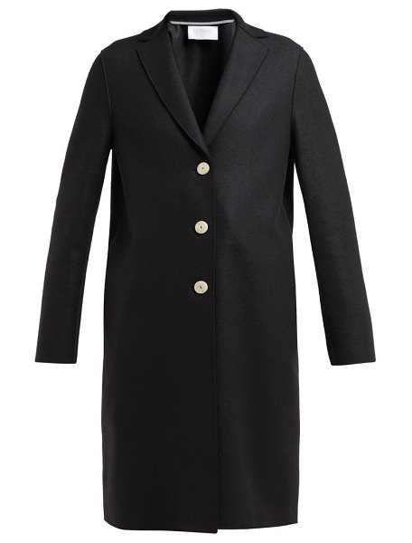Harris Wharf London single breasted wool coat in black
