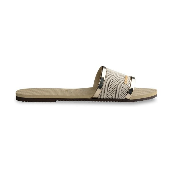 Havaianas you trancoso flat sandals in sand grey