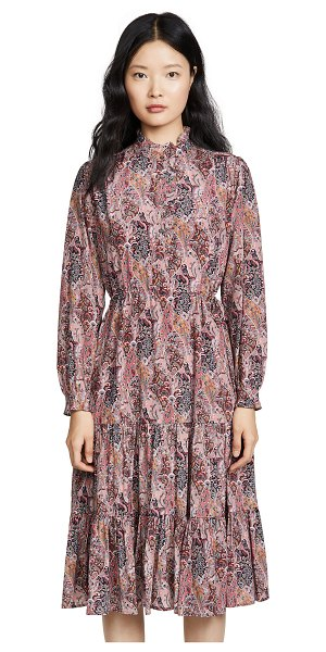 Heartmade hena dress in brown print