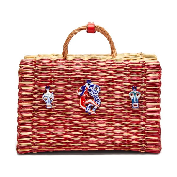 HEIMAT ATLANTICA amor large basket bag in red multi