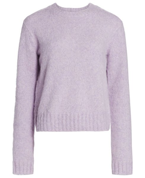 Helmut Lang brushed crewneck sweater in lavender,pine frost