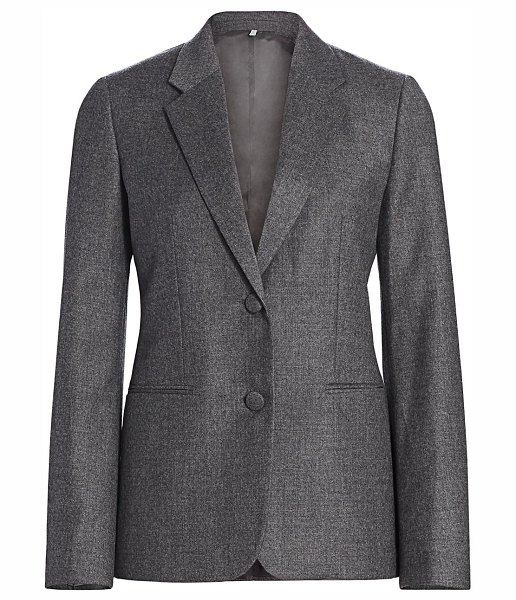 Helmut Lang flannel shrunken virgin wool blazer in beuys grey