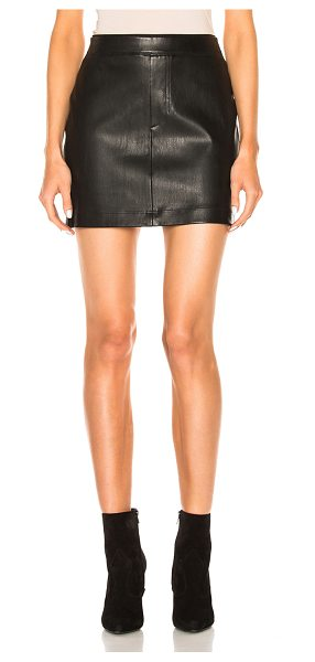 HELMUT LANG Leather Skirt - Self: 100% lambskin leather - Lining: 100% cotton.  Made in...